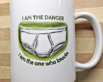 Father's Day Mug - Tighty Whities - Fun illustration - I am the Danger mug