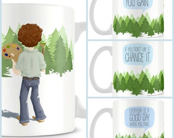 Bob Ross - Quotes mug - Officially licensed product