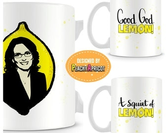 Tina Fey in a Lemon Mug