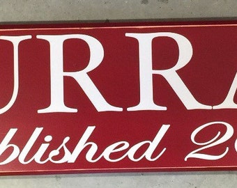 Custom Personalized Decorative Wood Sign Name And Established