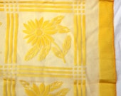 Sunny Yellow Vintage Flower Scarf