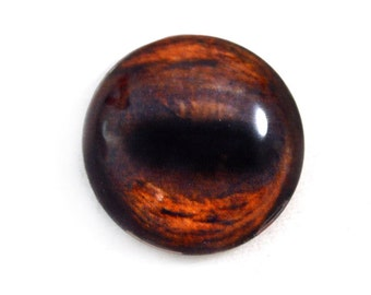 25mm Brown Horse Glass Eye Cabochon Animal Jewelry or Doll Making or Taxidermy Crafting 1 inch