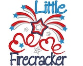 Little Firecracker - machine embroidery designs - 4x4 and 5x7  INSTANT DOWNLOAD