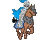 Knight - machine embroidery applique designs - 5, 6, 7 and 8 inches INSTANT DOWNLOAD