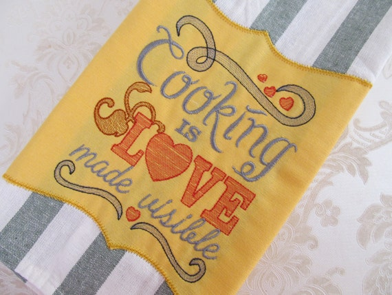 Cooking Is Love Made Visible Quick Stitch Embroidery Designs