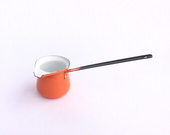 Orange Enamel Coffee Pourer