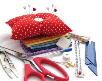 Ready, Set, Sew - Beginners Starter Sewing Tools Kit with bonus pin cushion project