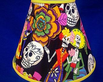 Day of the Dead Wedding Skulls Lamp Shade