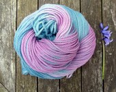 Hand Dyed Aran Yarn, Falkland Merino Yarn, worsted yarn, british wool yarn