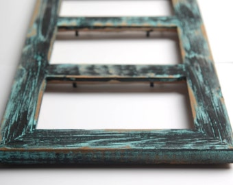 3 hole 4x6 Collage Multi Opening Picture Frame-Rustic Picture Frame-Home Decor Frames-Reclaimed-Cottage Chic-Collage Frame-Picture Frames