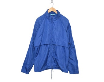 """Vintage Woolrich Yellowstone National Park Royal Blue """"The Teton Group"""" Windbreaker / Parka, Made in USA"""