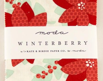 Winterberry Charm Pack designed by Kate & Birdie for Moda