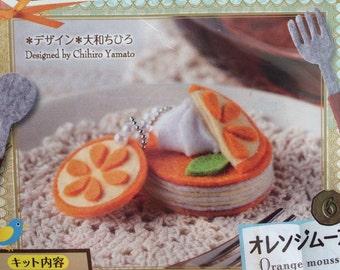 Japan Handmade Wool Felt Orange Mousse Set