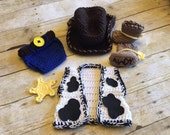 CUSTOM ORDER for Jennifer D- Crochet newborn woody cowboy outfit baby prop for photography, Newborn prop, photo  prop, babies first birthday