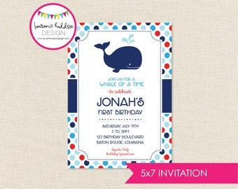 DIY, Whale Party INVITATION