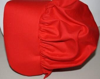 Red Pioneer Bonnet
