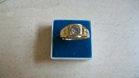 Vintage 1 30 14k Gold Rgp Mens Ring Gold Plate Ring Mens