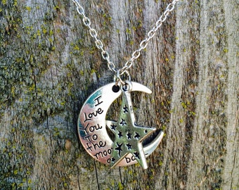 I love you moon and star necklace