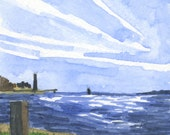 Painting: Fort Hale Park, Long Island Sound