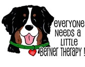 Bernese Mountain Dog Therapy shirt Heart tag