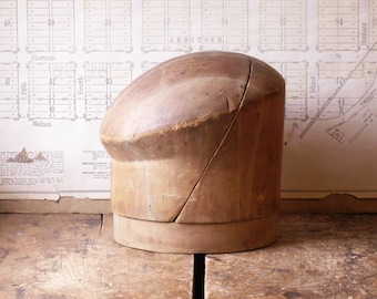 Vintage Hat Block - Puzzle Style Millinery Tool