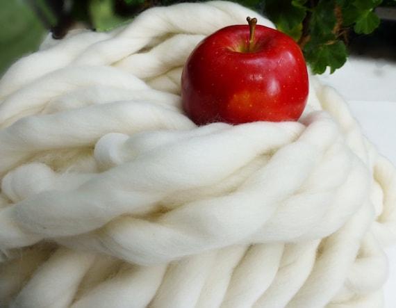 Super Chunky Yarn, Chunky Merino, Chunky Blanket, Giant Knitting