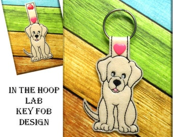 IN The Hoop Lab Key Fob Embroidery Machine Design