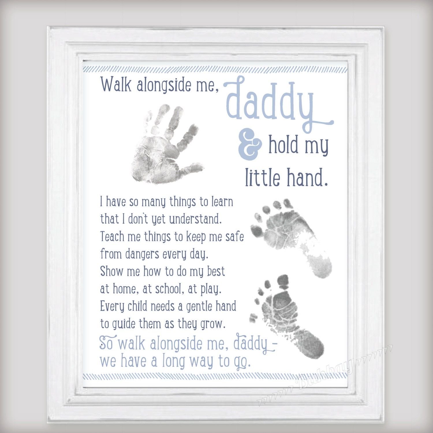 Walk Alongside Me Daddy Art Print Personalize With