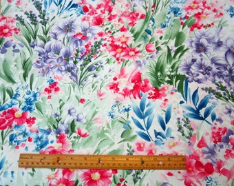 Wildflowers Multi Floral premium cotton fabric by Timeless Treasures