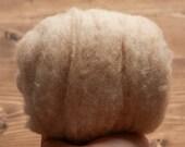 Sand Needle Felting Wool, Wool Batting, Batts, Wet Felting, Spinning, Dyed Felting Wool, Beige, Tan, Fiber Art Supplies