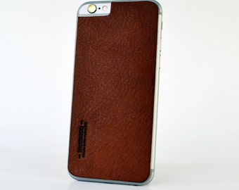 Leather Back for iPhone 6 - 100% High grade Italian premium leather