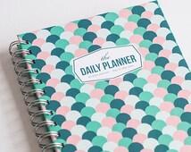 Daily Planner - Jade Waves (60 days undated planner)