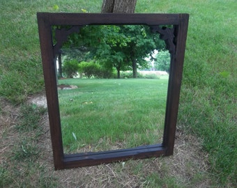 Antique Victorian Gingerbread window screen with mirror insert