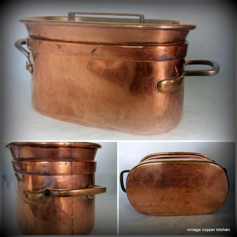 french antique daubi re braisi re copper pots pans tinned. Black Bedroom Furniture Sets. Home Design Ideas