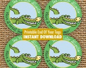 Alligator Favor Tags, See Ya Later,  Printable Tags, Instant Download, Printable Party, End Of Year Gift, Boy Birthday