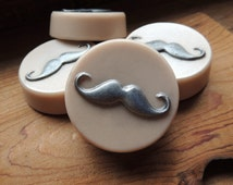 MUSTACHE SOAP, Set of 4, For Him, Father's Day, Handlebar Mustache, Party Favors, Custom Scented, Custom Colored
