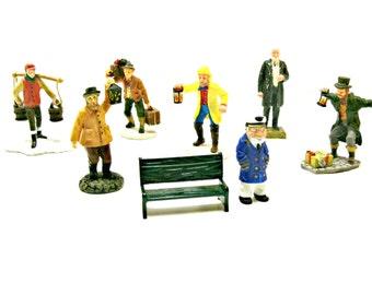 Vintage Lemax Figurines - Set of 8