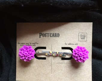 Mums the Word Hairpins in Magenta