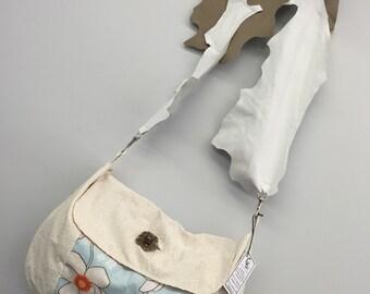 Leather Shoulder Bag_Cream Blue