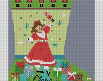 Nutcracker Suite Clara Needlepoint Stocking Canvas
