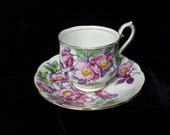 "RESERVED Royal Albert #6 ""Dog Rose"" Flower of the Month Series Bone China Cup and Saucer"