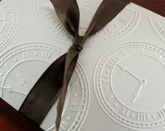 Clock Notecards with Old World Charm and Steampunk Style Watch