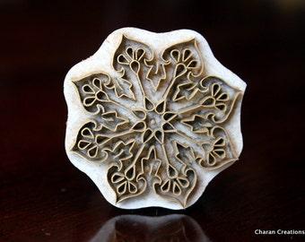 Indian wood stamp, Brass stamp, Pottery stamp, Blockprint stamp, Textile Stamp, Metal Tjaps- Floral Mandala