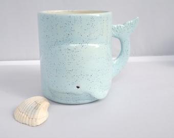 Nautical Whale Mug | Blue | Whale Mug |Handmade Ceramic from my Charleston, SC Studio