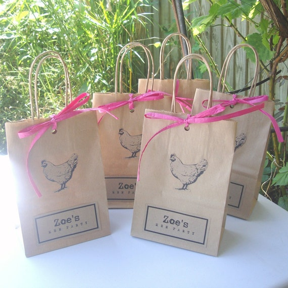 Hen Party Ideas For Small Groups: Hen Party Bags Set Of 5 SMALL 14cm X 19.5cm X 8cm With Hen
