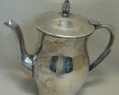Wm Rogers Silver Co. Silver Plate Tea Pot Paul Revere Reproduction 1878-1976
