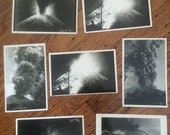 Seven photo postcards of Parucutin volcano - Michoacan, Mexico