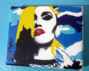 Gwen Stefani Multi-Layer Original MINI Stencil Painting by Jessica Pope ~ No Doubt Rocker Art