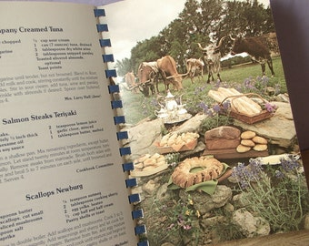 Vintage 1980's Lone Star Legacy A Texas Cookbook, 1985, 150th Texas Anniversary, Longhorns, Wedding gift for bride