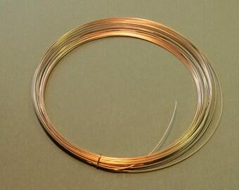 5 Feet 20 gauge Gold-Filled Wire - HALF ROUND - Half-Hard